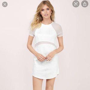 Tobi Aethelind White Snake Print Shift Dress